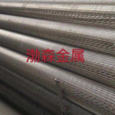 不锈钢楔形网缠绕丝筛管     三角丝正卷筛管