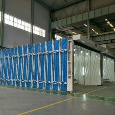 镀锌管材质伸缩喷漆房 运行平稳 操作简单