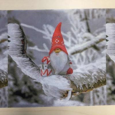 厂家直销水刺布圣诞老人 一次性口罩面料圣诞老人水刺布