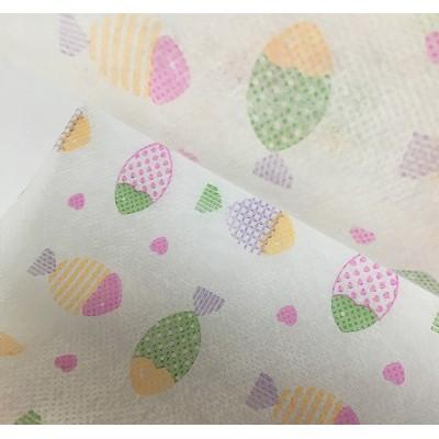 可爱五彩鱼图案款口罩用布 儿童卡通 印花无纺布 (可定制)