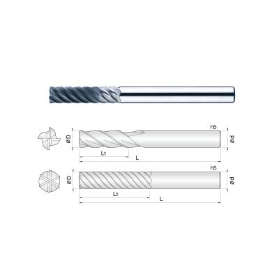 常州生产石墨专用金刚石涂层铣刀平底型 石墨铣刀/模具专用