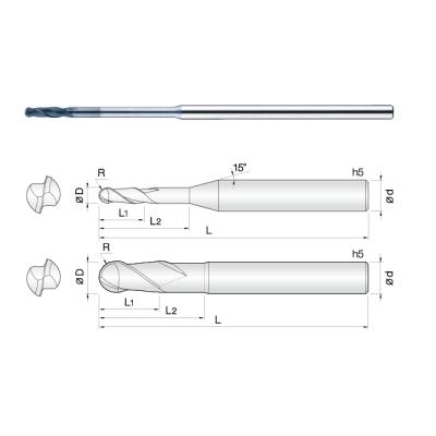 常州生产石墨专用微小径金刚石涂层铣刀 模具用/CNC