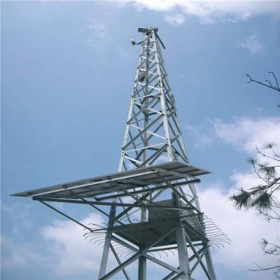 20米四角角钢监控塔 钢结构监控塔 直爬梯监控塔 厂家供应