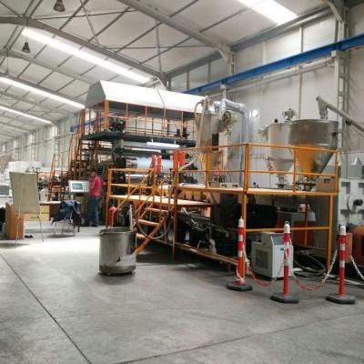 PET片材生产线 PE钢带包装卷材机组 PE塑料包装片材生产