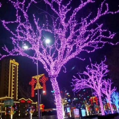 圣诞装饰 东胜 灯光亮化工程厂家灯光亮化工程施工10年经验值