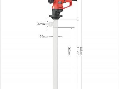 电动抽液泵 化工插桶泵化工抽液泵牧格D73齿轮传动聚偏氟乙烯