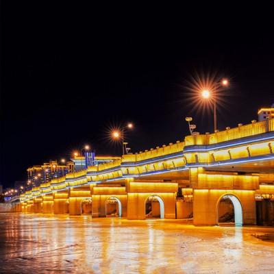 楼体亮化工程 郑州桥梁亮化工程公司 桥梁夜景亮化工程 led