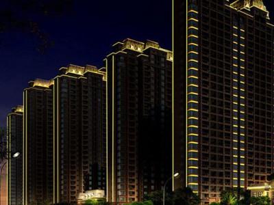 楼体亮化工程 河南亮化工程公司 住宅楼亮化工程 小区楼体灯光