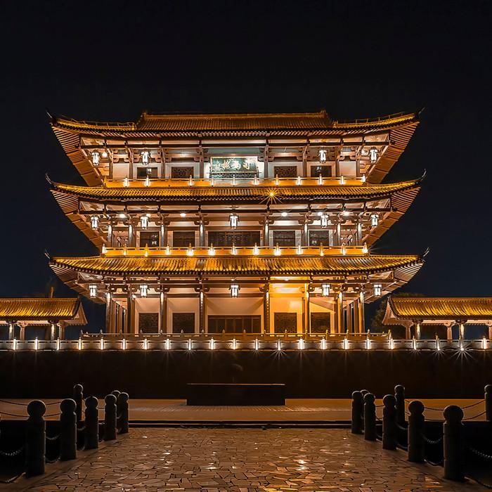 楼体亮化工程 郑州亮化工程 古建筑照明亮化工程灯光 专注古建