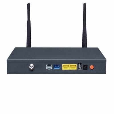 冠联通信生产销售双口铁壳光纤光猫设备带WiFi