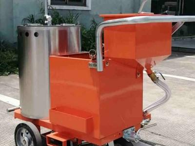 隧道路面自行式热熔标线机 广场车间地面手扶划线机