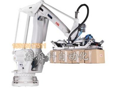 新型纸箱抓手码箱机器人的产品应用